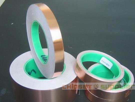 99mmx30Mx0.06mm Double Sided Conductive Copper Foil Tape