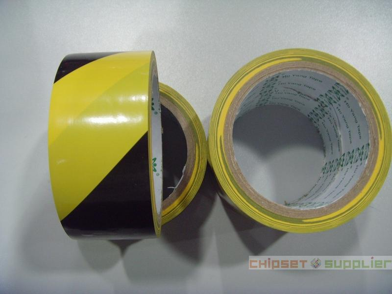 4.5cm x 18 meters Floor Warning Adhesive Tape、Work Area Caution Tape、Ground Attention Tape Abrasion-Proof Yellow and Black