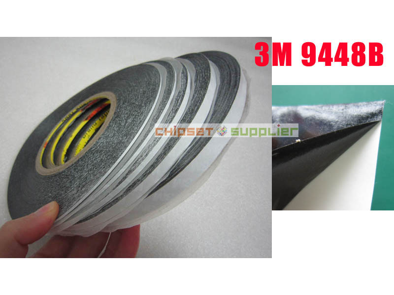 Free DHL 100 roll 1mm 3M 9448B Black Two Faces Sticky Tape