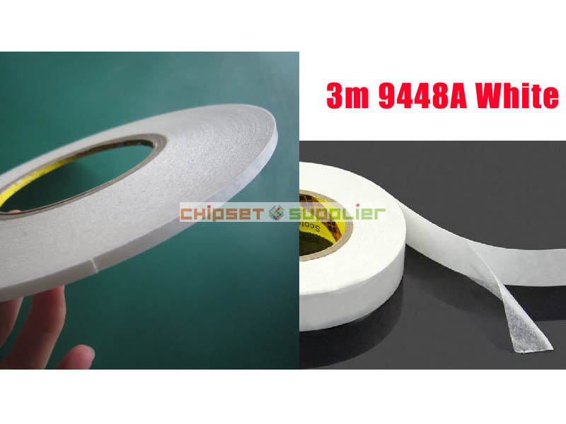 10 roll 3mm 3M 9448A White Double Faces Sticky Tape for Cellphone LCD