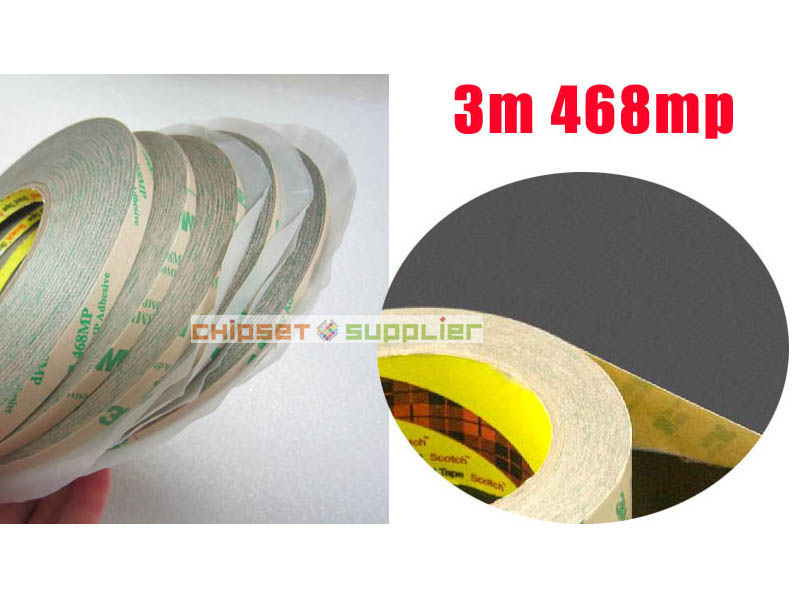 Free DHL 100 roll 7mm 3M 468MP 200MP Adhesive Double Sided Sticky Tape