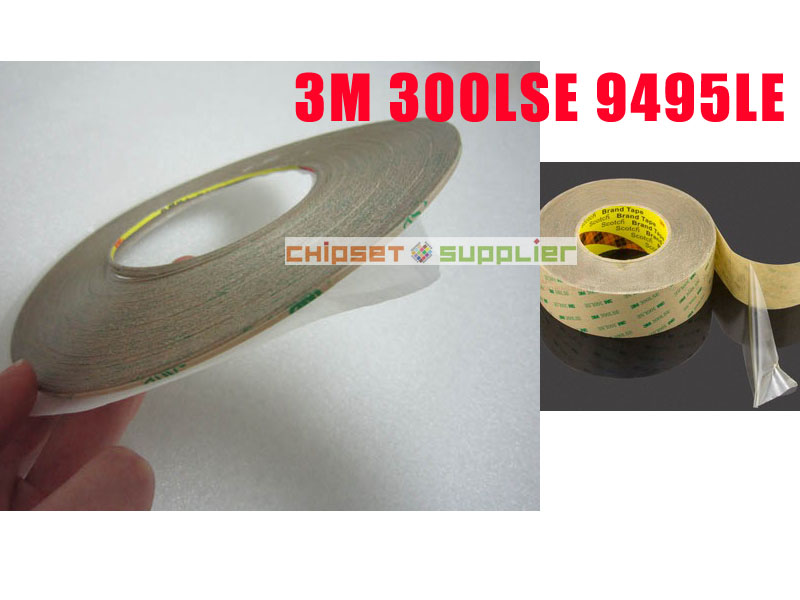 Free DHL 100 roll 10mm 3M 300LSE 9495LE Adhesion 2 Faces Sticky Tape