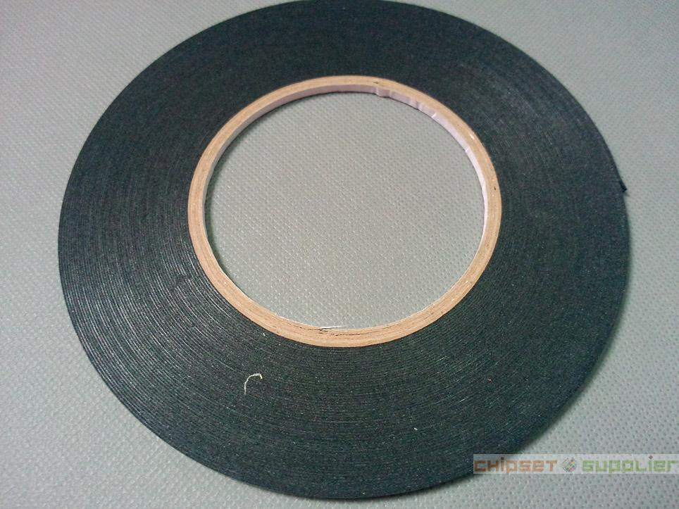 10 roll 3mmx0.5mmx20M Double Sided Adhesive Black Foam Tape for phone tablet mini pad gps Gasket Repair, Dust proof