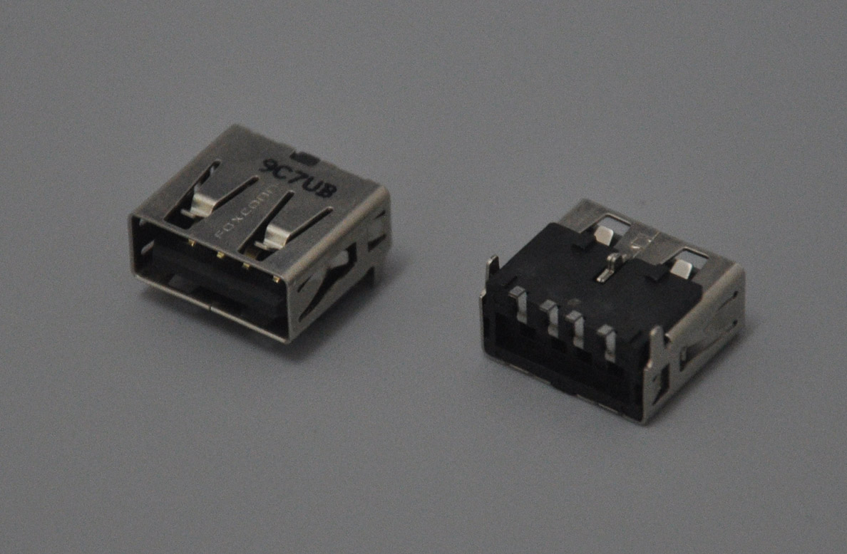 Laptop MotherBoard Common use 12mm USB Female Connector, U209C7UB